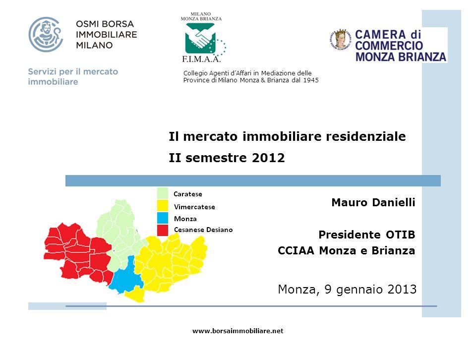 Il mercato immobiliare residenziale II semestre 2012