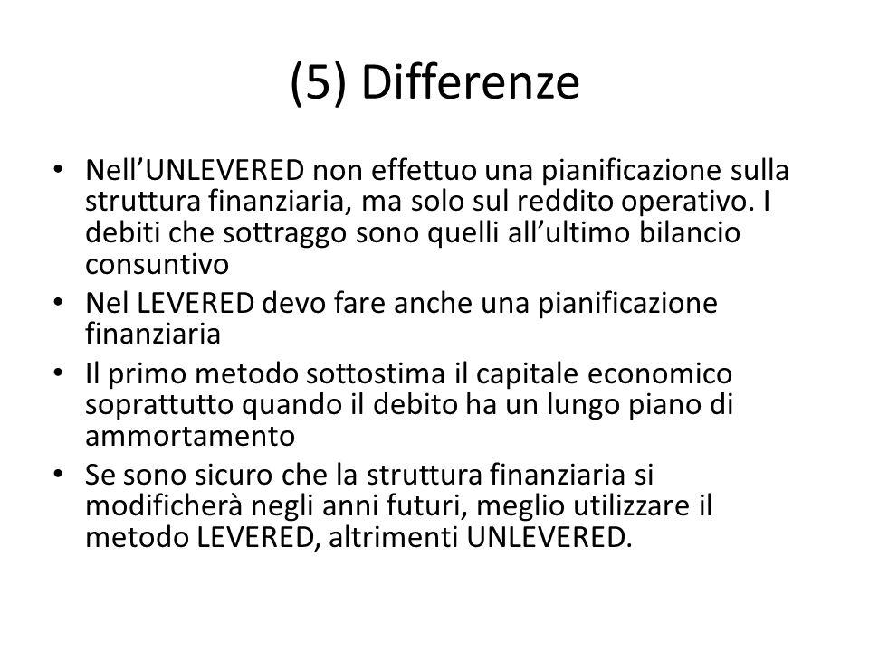 (5) Differenze
