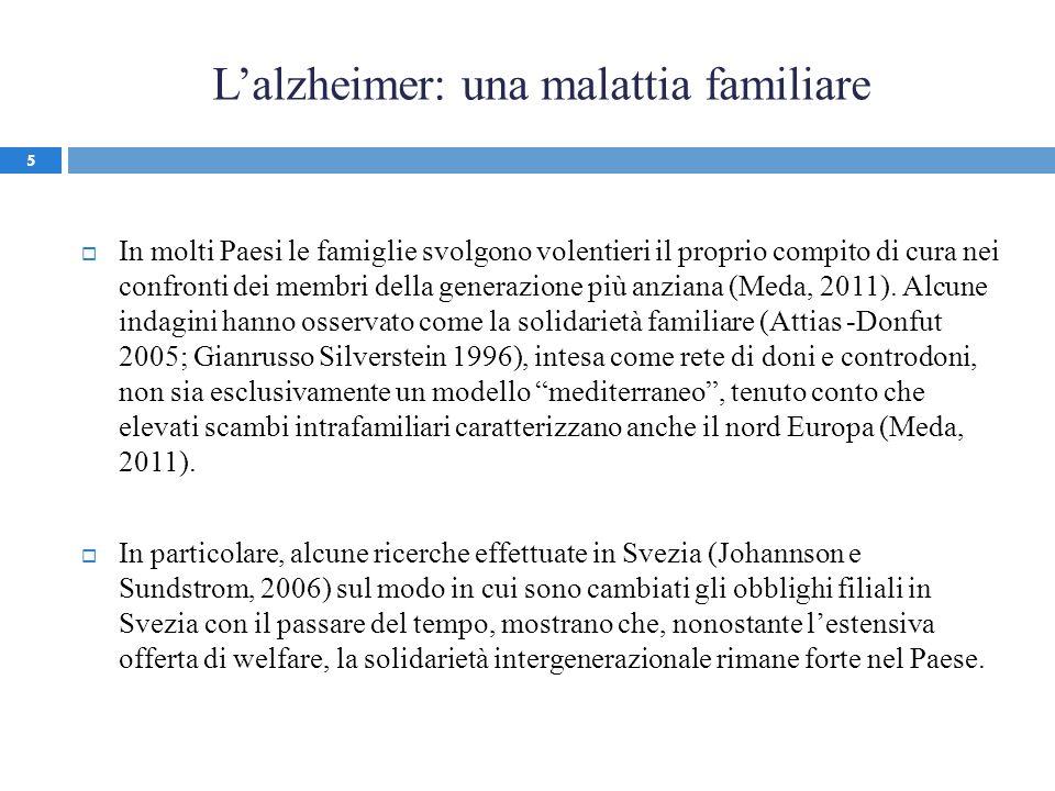L'alzheimer: una malattia familiare
