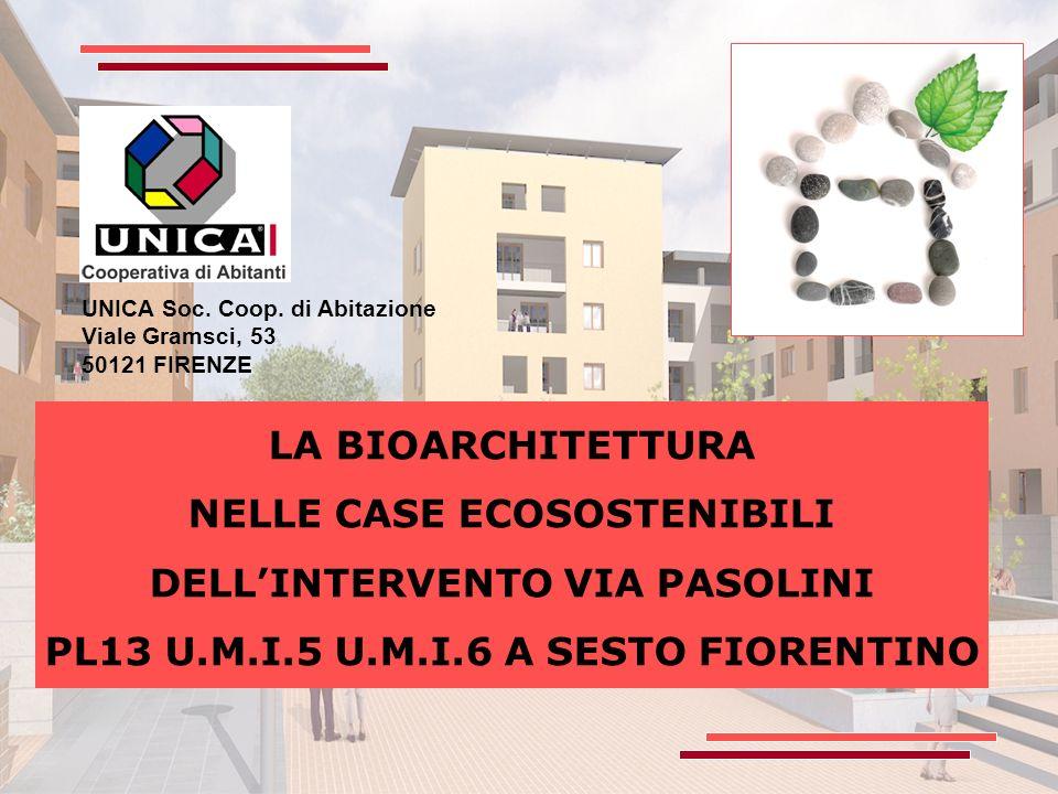 NELLE CASE ECOSOSTENIBILI DELL'INTERVENTO VIA PASOLINI