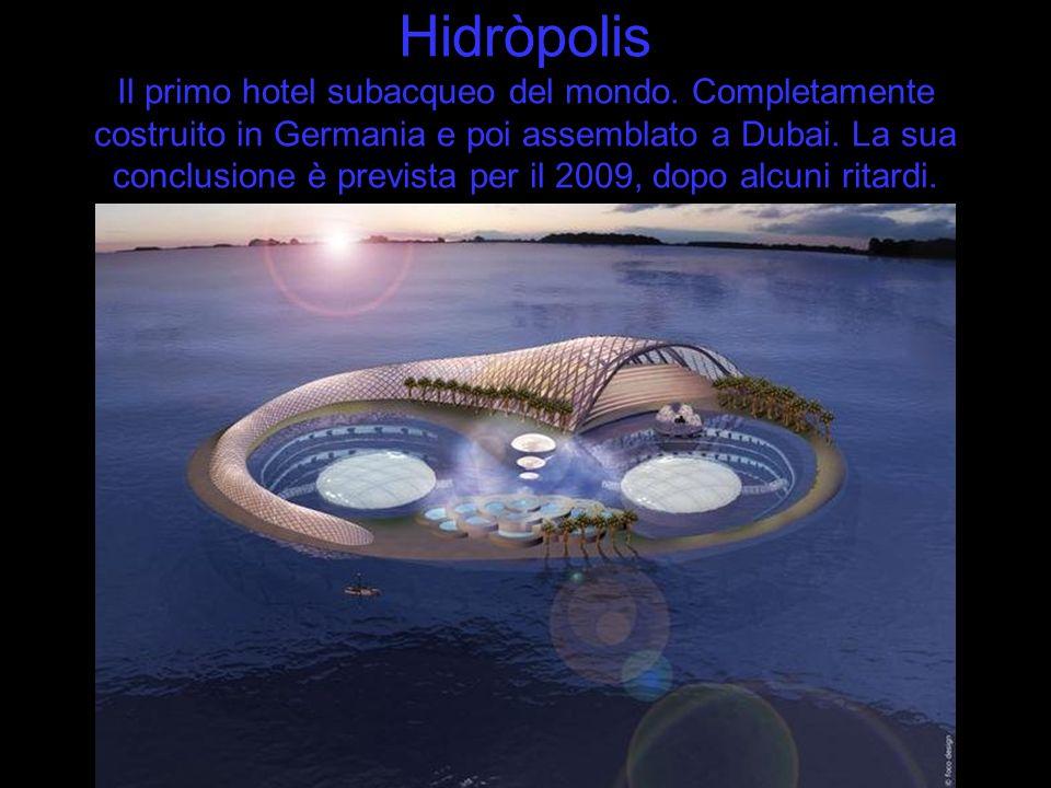 Hidròpolis Il primo hotel subacqueo del mondo