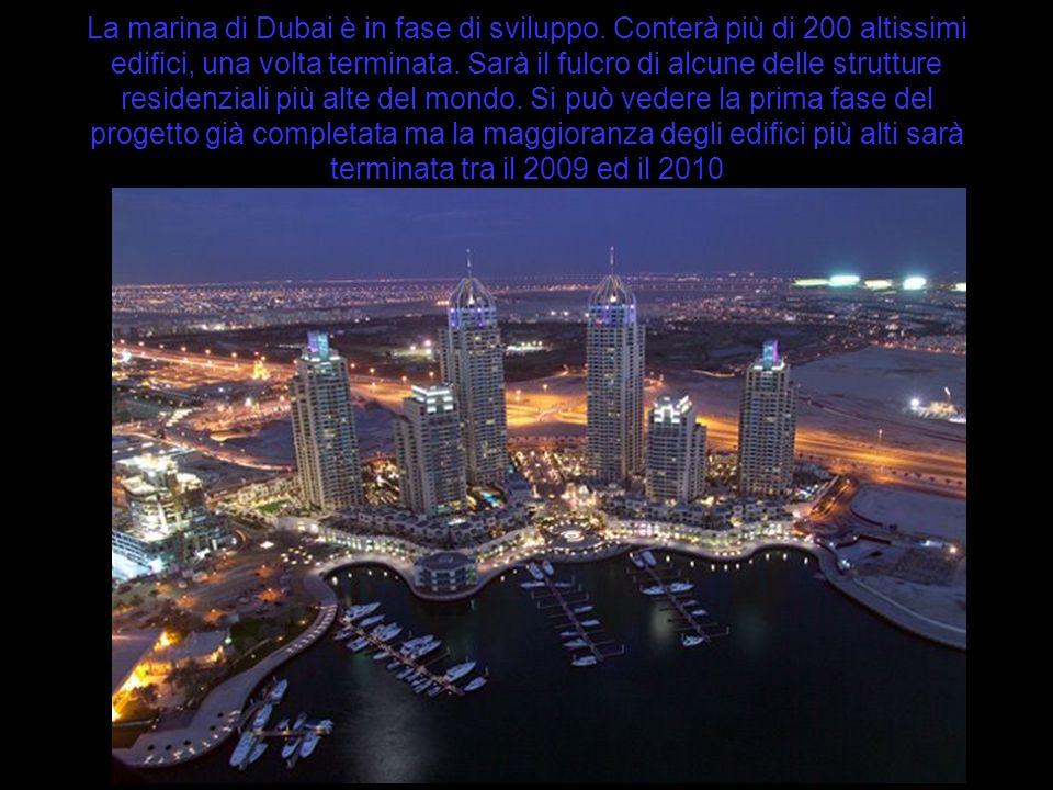 La marina di Dubai è in fase di sviluppo