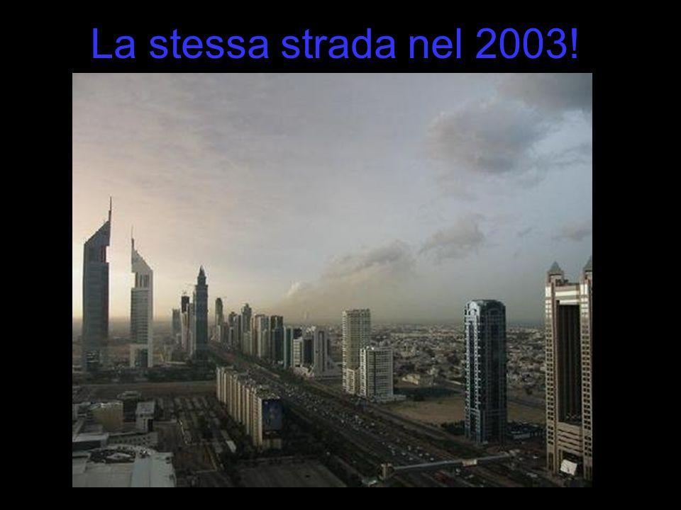 La stessa strada nel 2003!