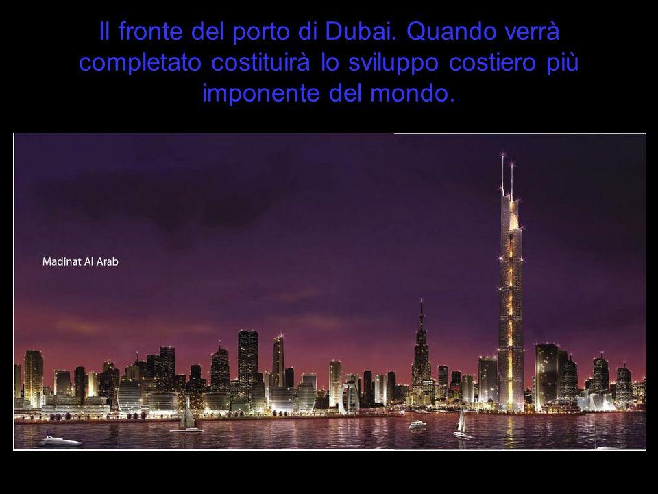 Il fronte del porto di Dubai