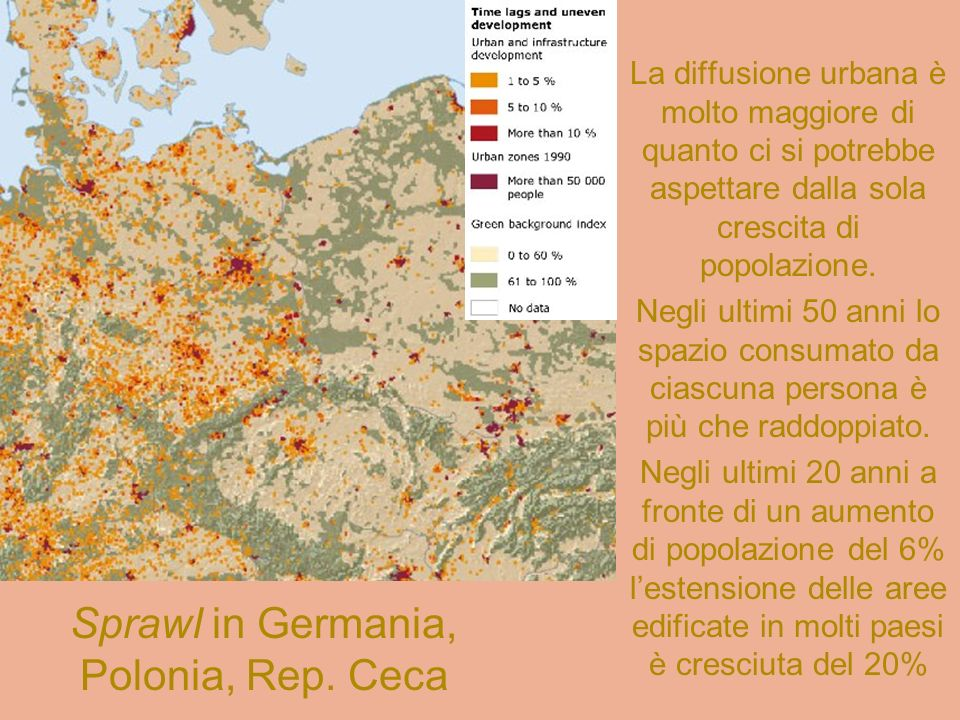 Sprawl in Germania, Polonia, Rep. Ceca