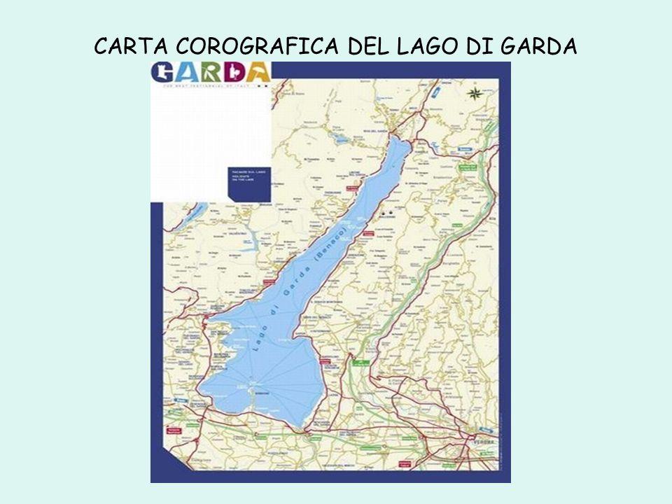 CARTA COROGRAFICA DEL LAGO DI GARDA