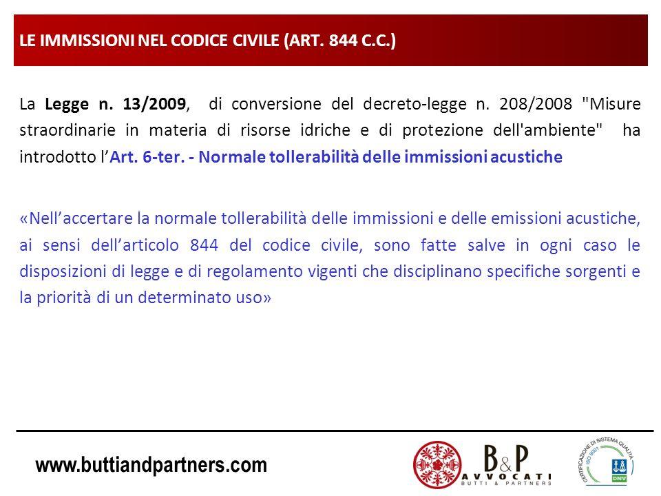 LE IMMISSIONI NEL CODICE CIVILE (ART. 844 C.C.)
