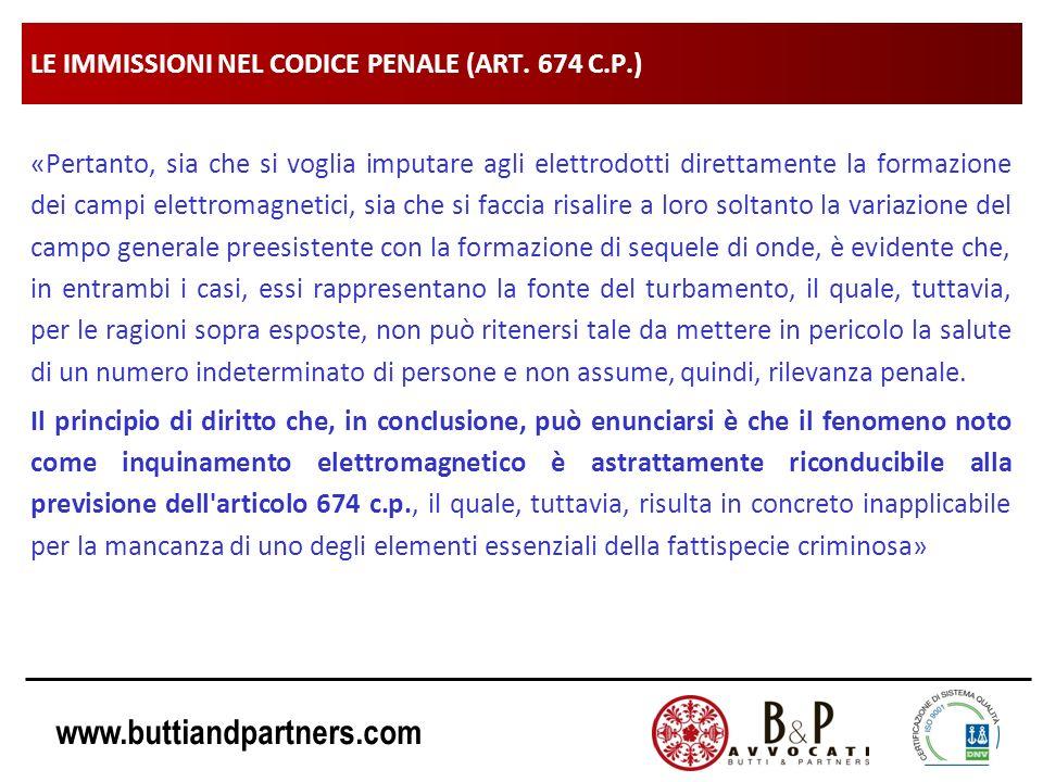 LE IMMISSIONI NEL CODICE PENALE (ART. 674 C.P.)