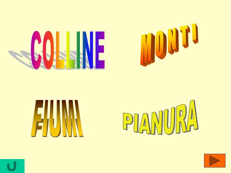 MONTI COLLINE PIANURA FIUMI