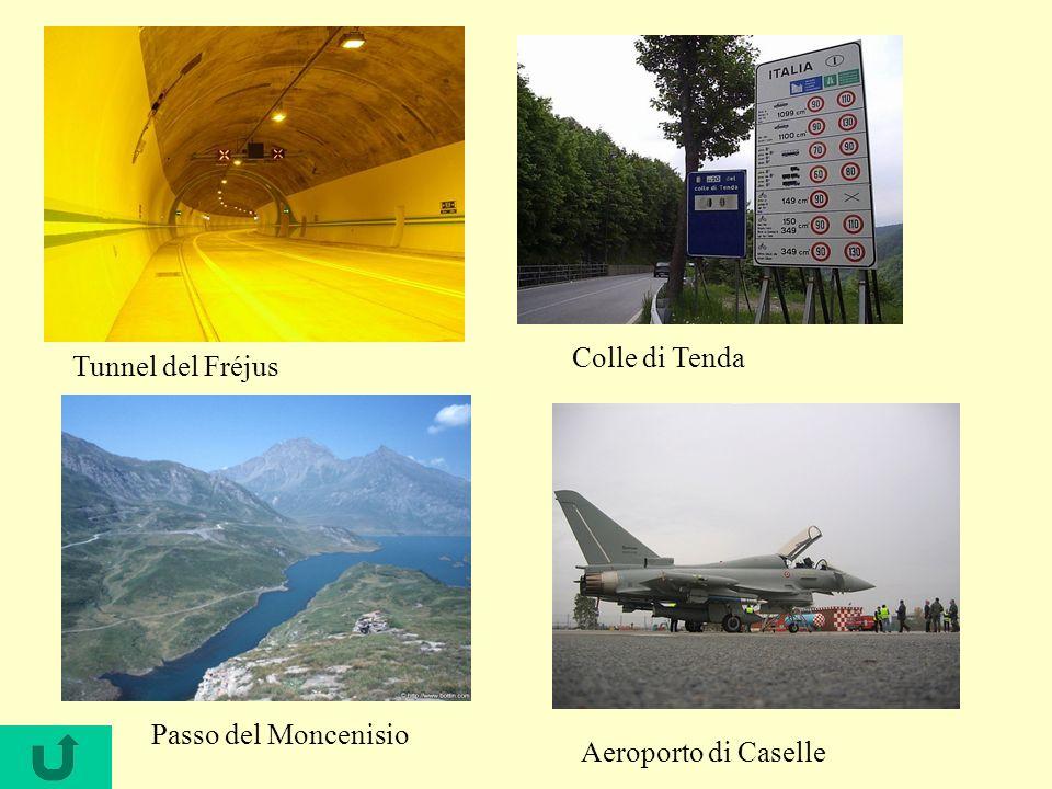 Colle di Tenda Tunnel del Fréjus Passo del Moncenisio Aeroporto di Caselle