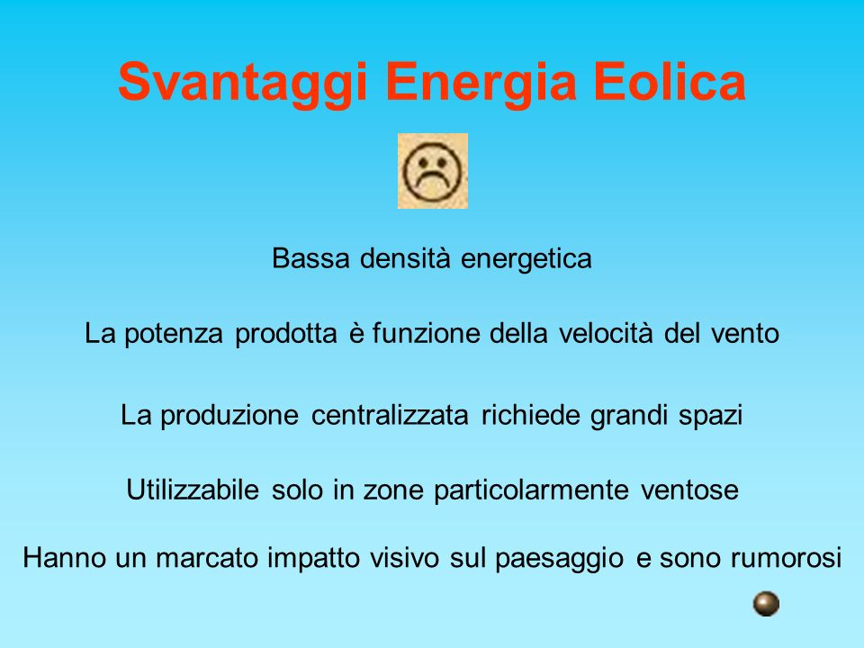 Svantaggi Energia Eolica