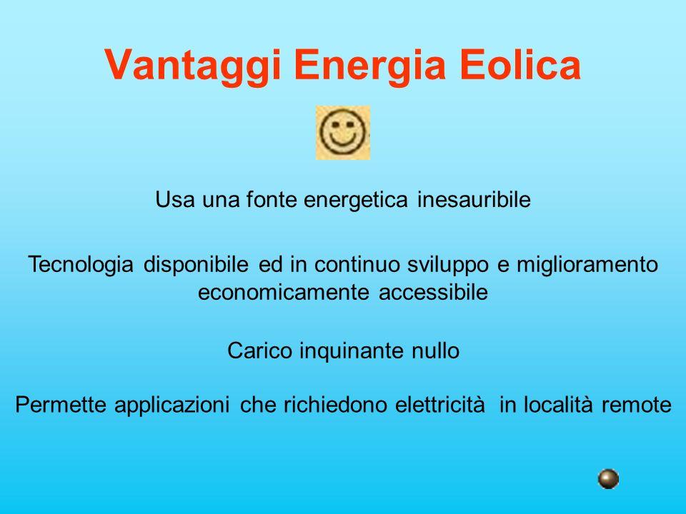Vantaggi Energia Eolica