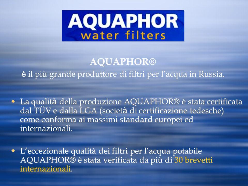 è il più grande produttore di filtri per l'acqua in Russia.