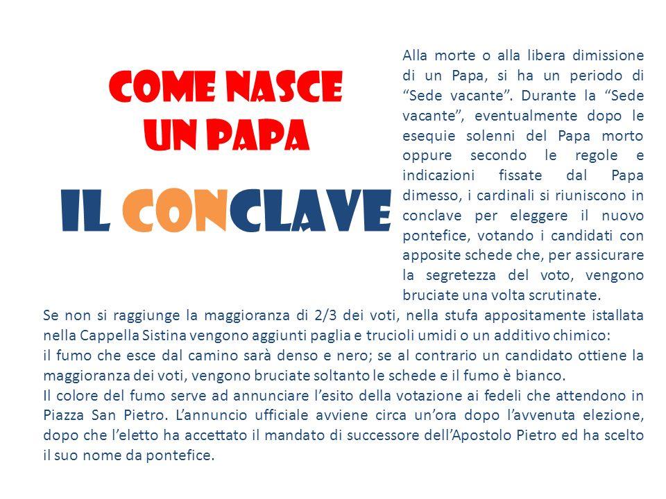 Il conclave COME NASCE UN PAPA