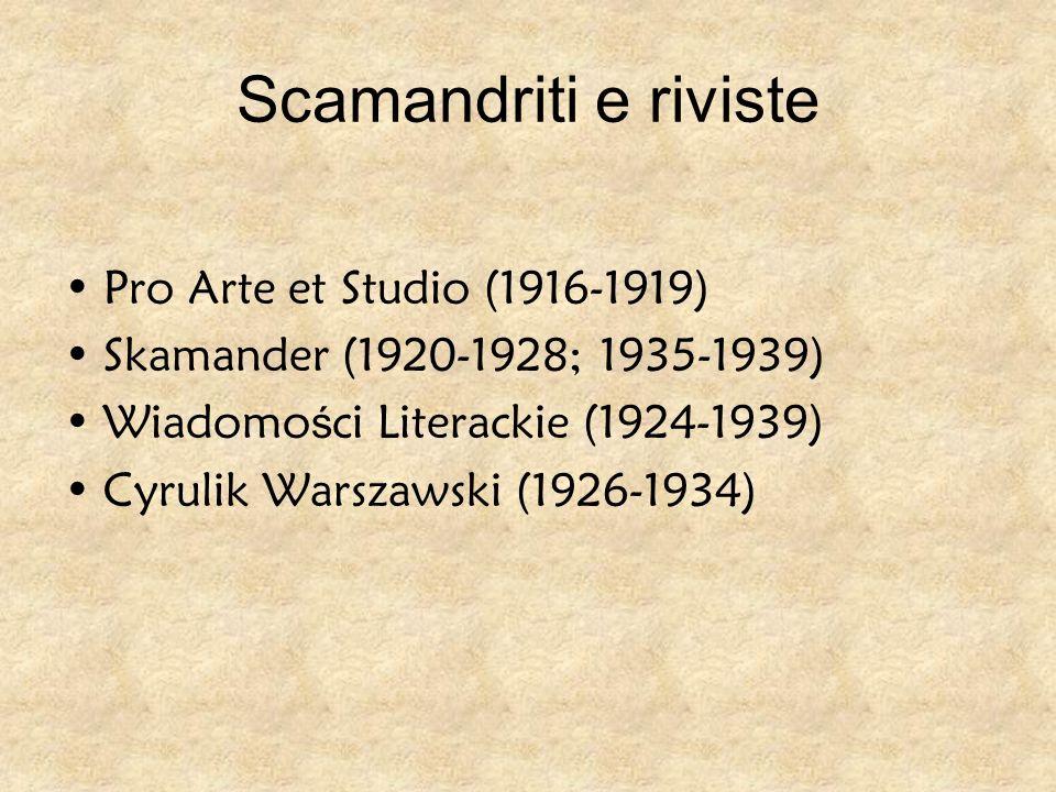 Scamandriti e riviste Pro Arte et Studio (1916-1919)