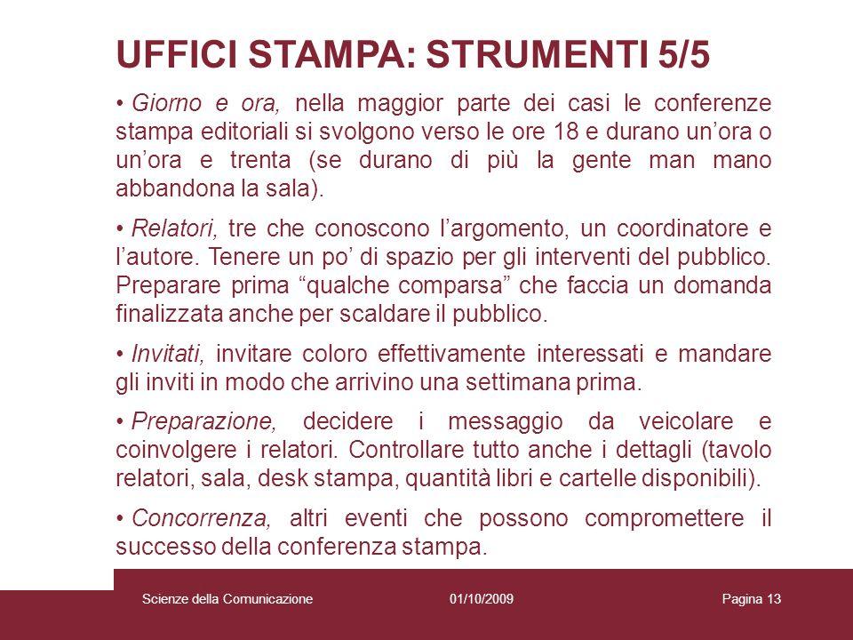 UFFICI STAMPA: STRUMENTI 5/5