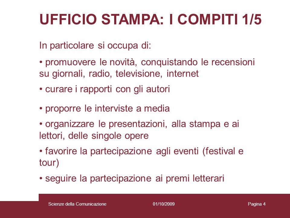 UFFICIO STAMPA: I COMPITI 1/5