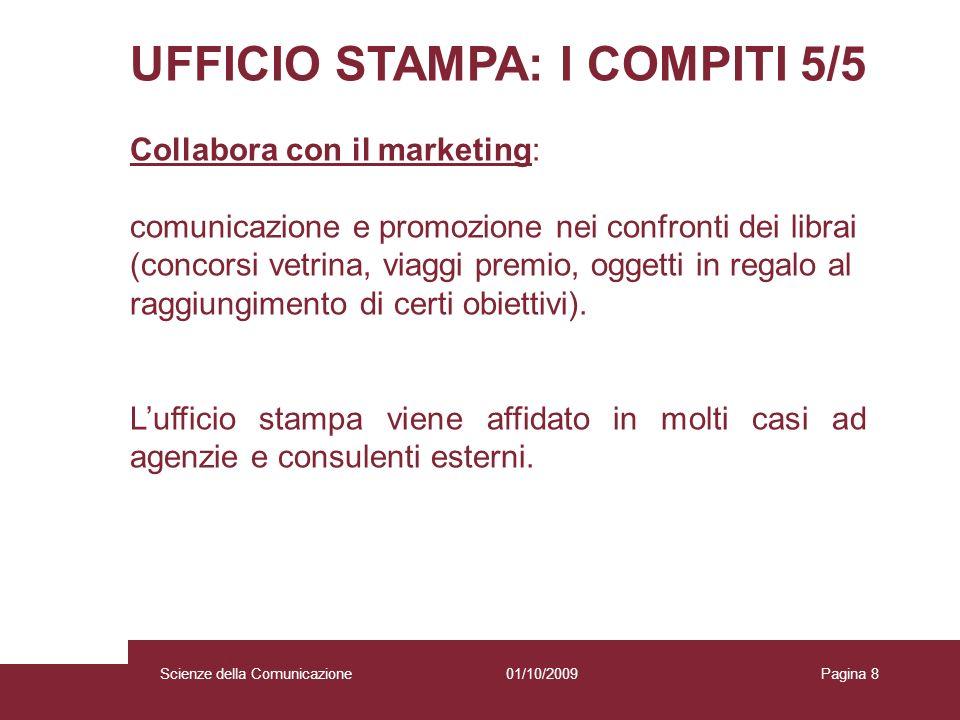 UFFICIO STAMPA: I COMPITI 5/5