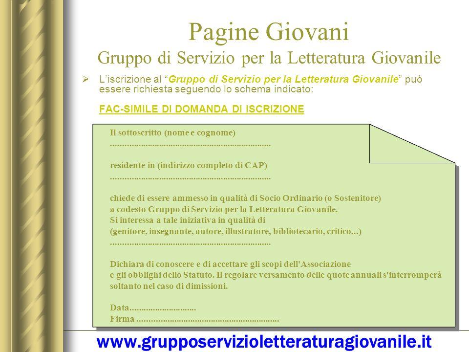 Pagine Giovani Gruppo di Servizio per la Letteratura Giovanile