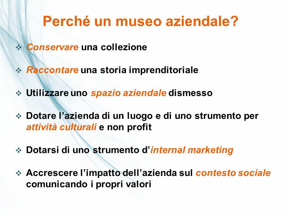 Perché un museo aziendale
