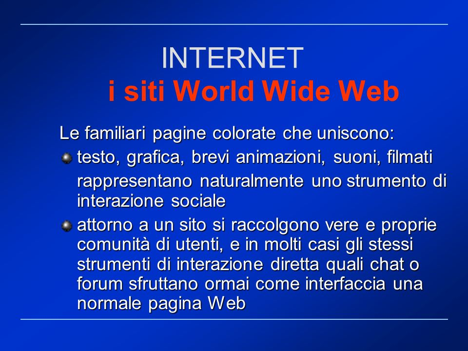 INTERNET i siti World Wide Web