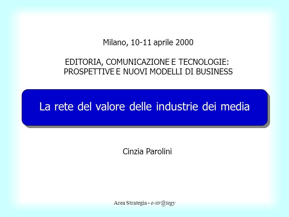 La rete del valore delle industrie dei media
