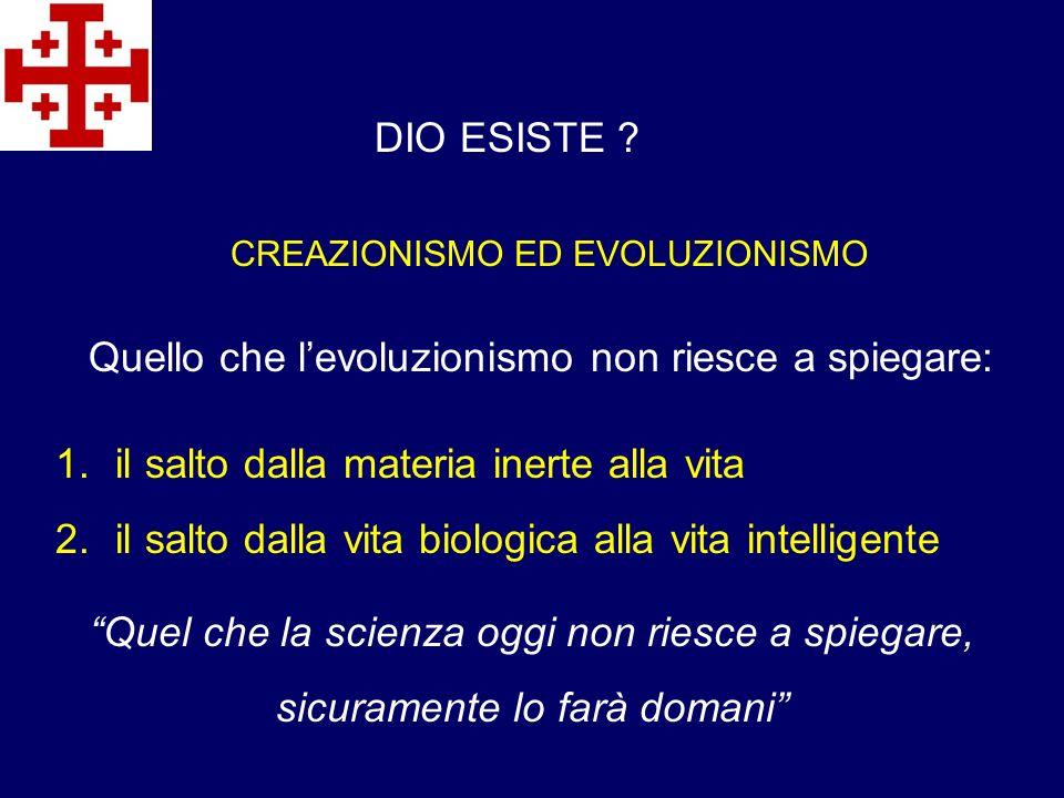 Quello che l'evoluzionismo non riesce a spiegare: