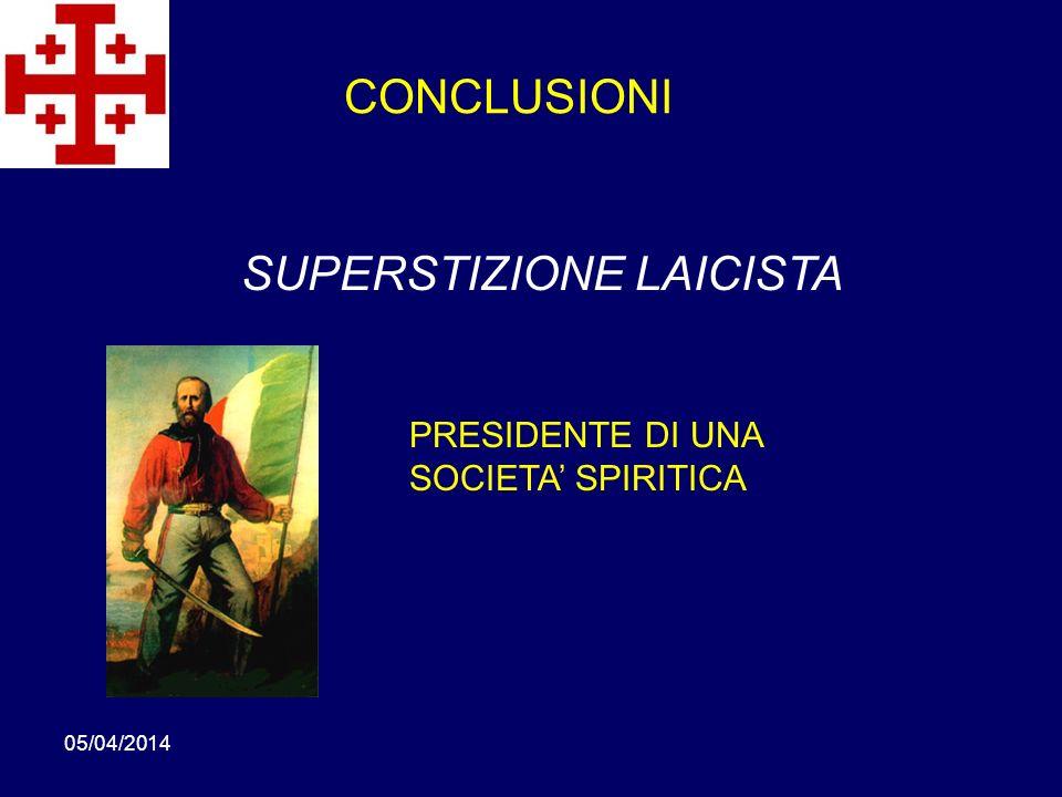SUPERSTIZIONE LAICISTA