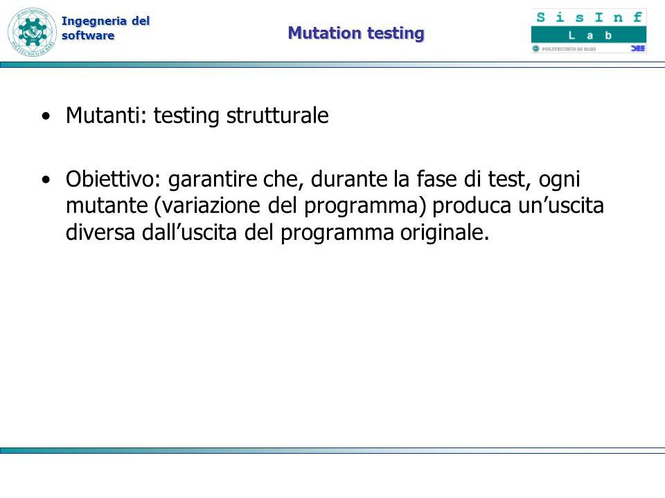 Mutanti: testing strutturale