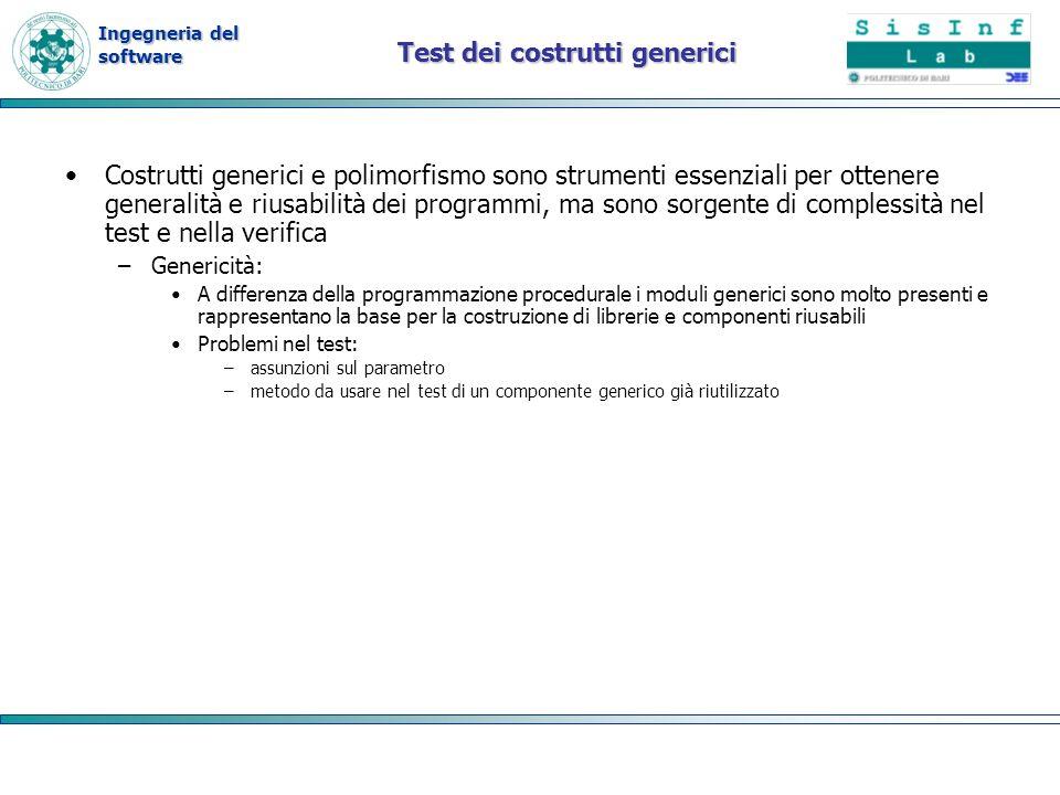 Test dei costrutti generici