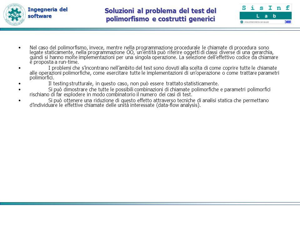 Soluzioni al problema del test del polimorfismo e costrutti generici