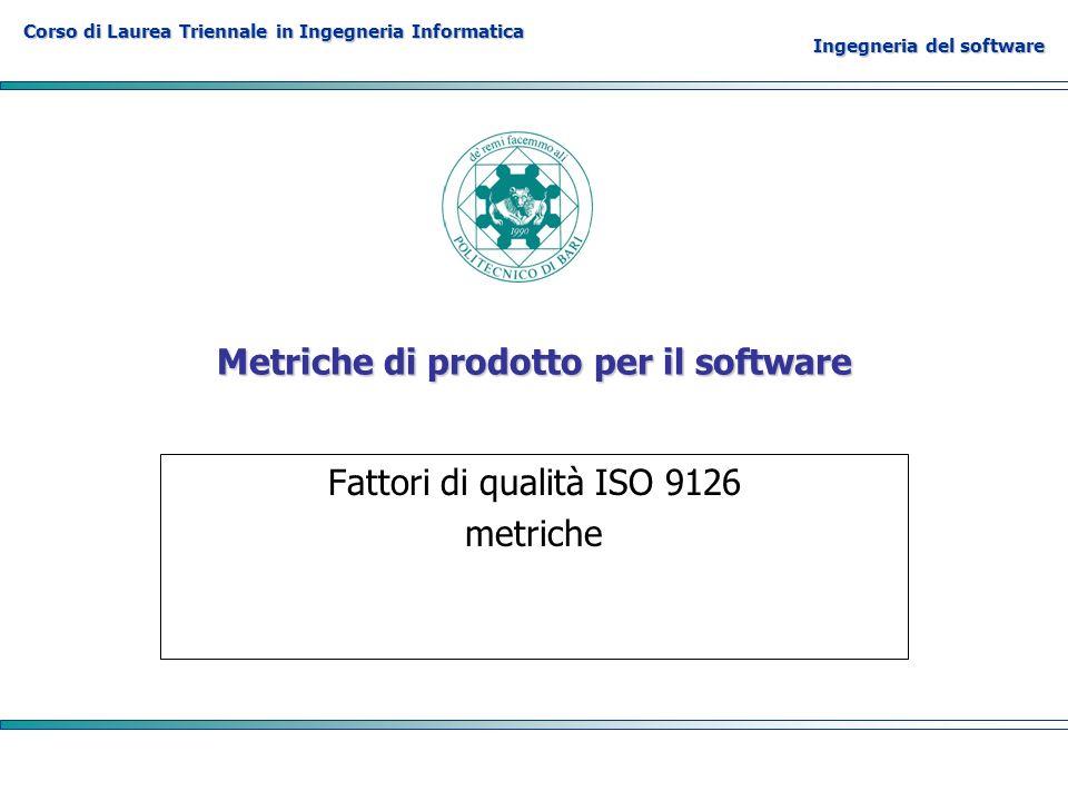 Metriche di prodotto per il software