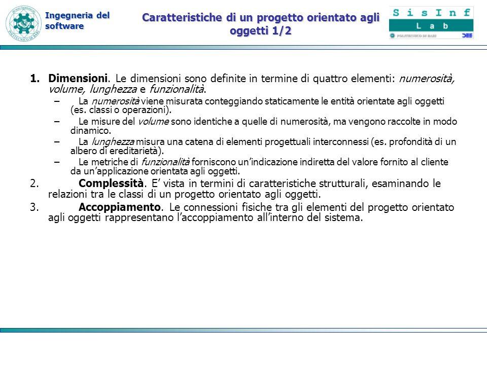 Caratteristiche di un progetto orientato agli oggetti 1/2