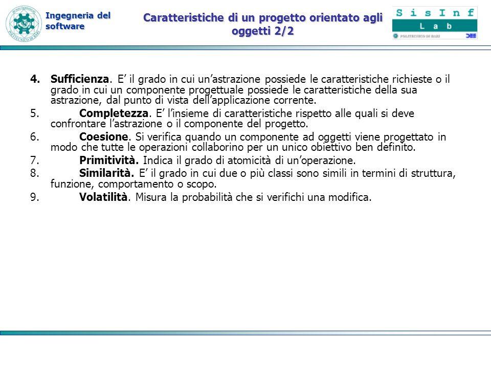 Caratteristiche di un progetto orientato agli oggetti 2/2