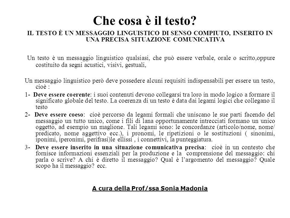 A cura della Prof/ssa Sonia Madonia