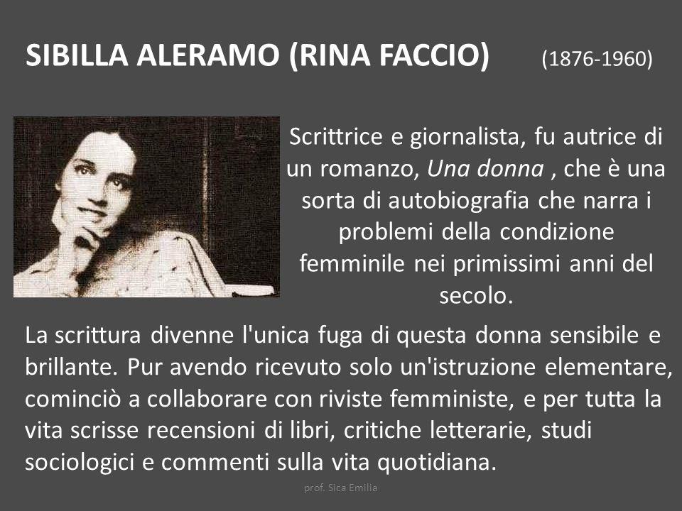 SIBILLA ALERAMO (RINA FACCIO)