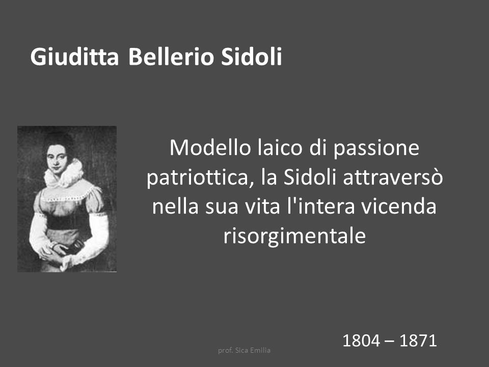 Giuditta Bellerio Sidoli
