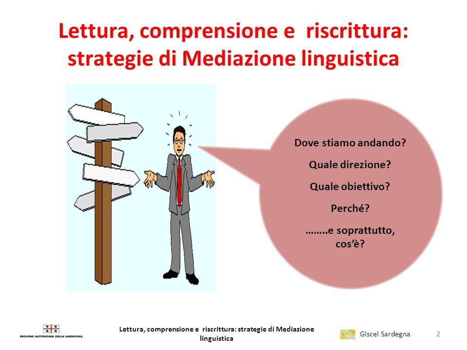 Lettura, comprensione e riscrittura: strategie di Mediazione linguistica