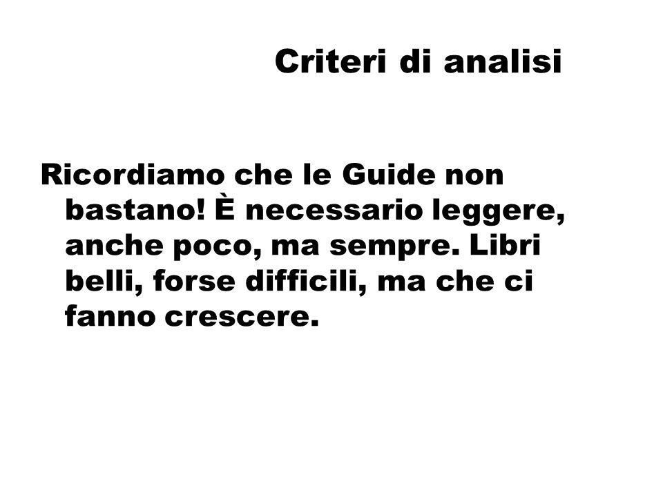 Criteri di analisi