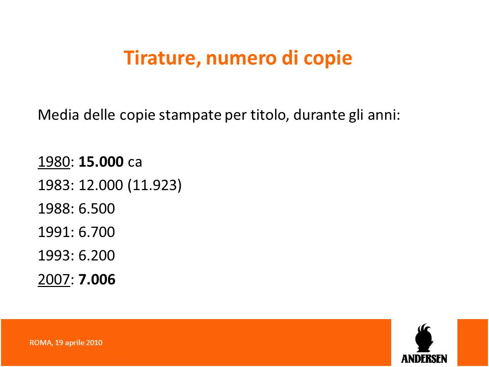 Tirature, numero di copie