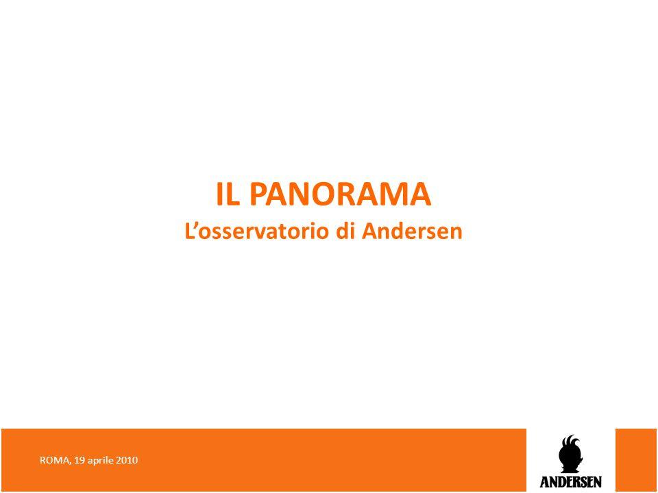 IL PANORAMA L'osservatorio di Andersen