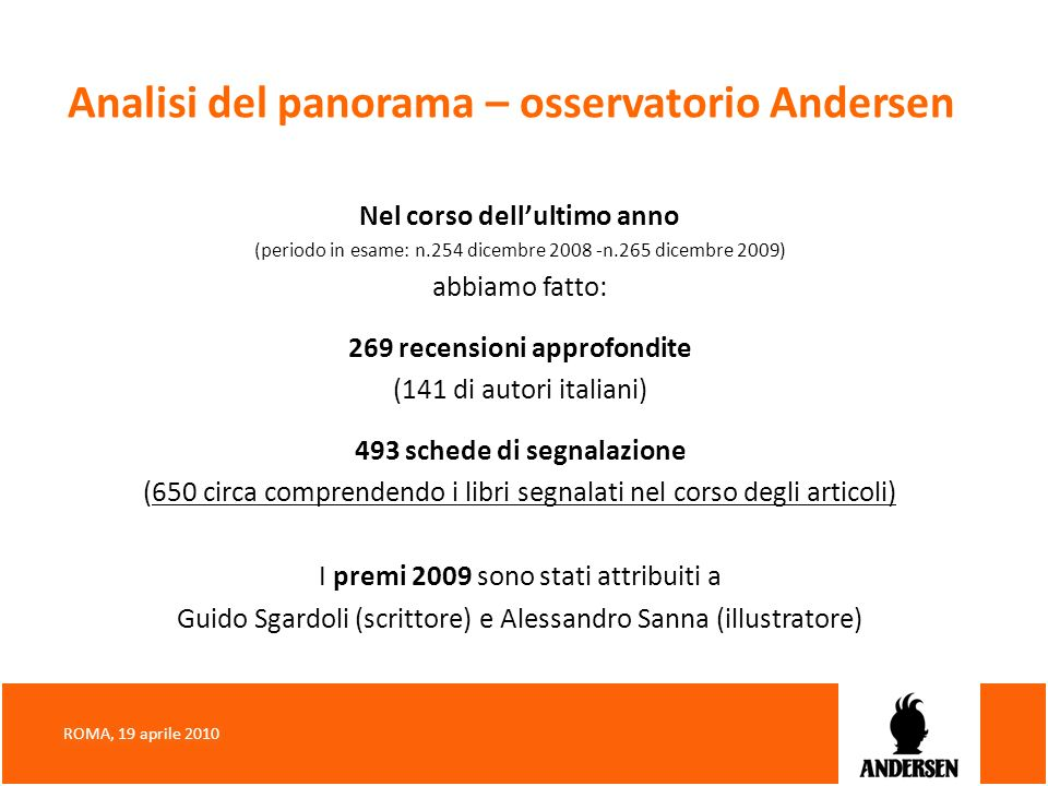 Analisi del panorama – osservatorio Andersen