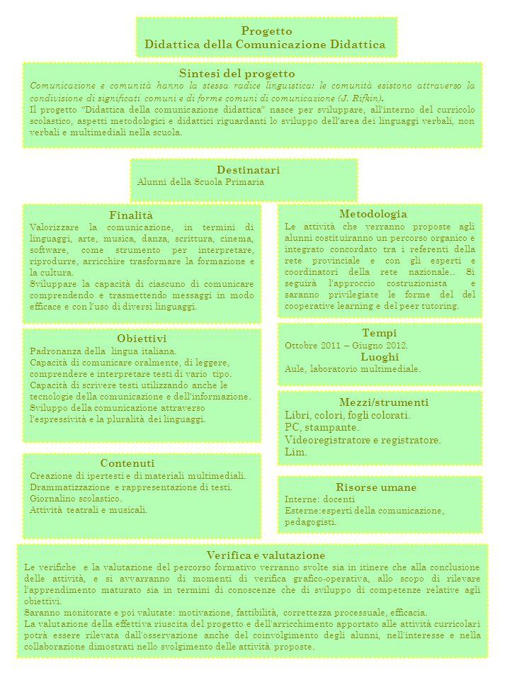 Didattica della Comunicazione Didattica