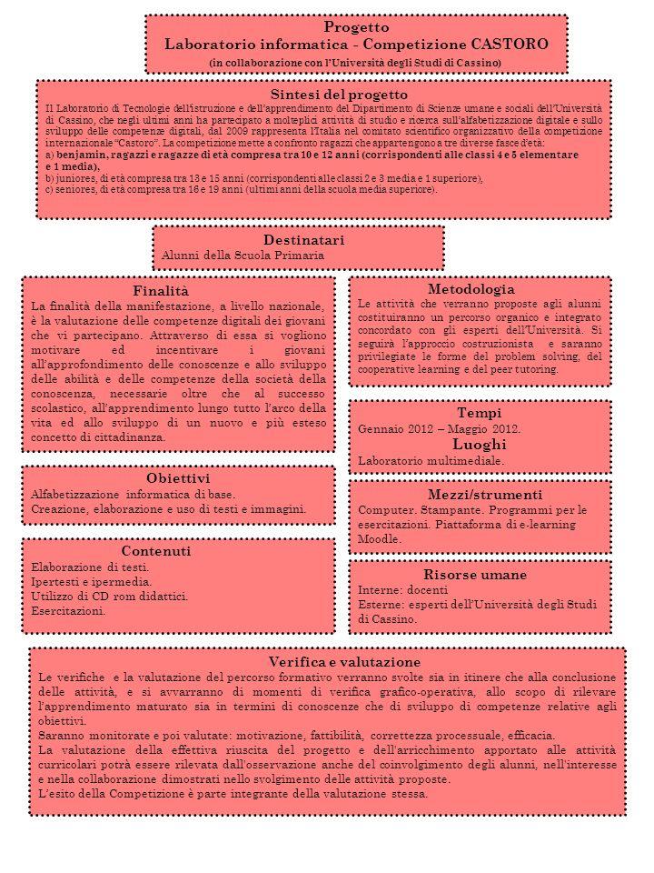Progetto Laboratorio informatica - Competizione CASTORO Luoghi