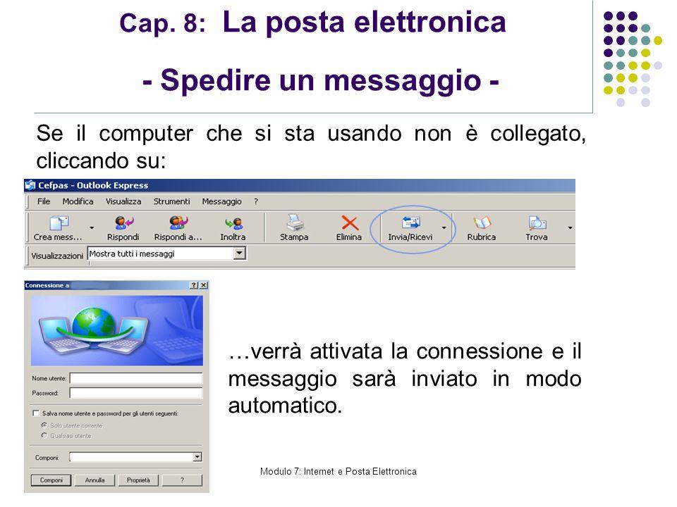 Cap. 8: La posta elettronica - Spedire un messaggio -