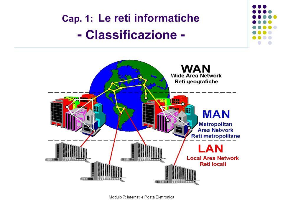 Cap. 1: Le reti informatiche - Classificazione -
