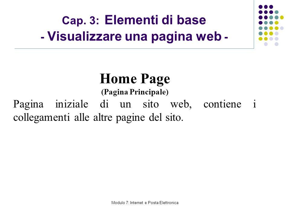 Cap. 3: Elementi di base - Visualizzare una pagina web -