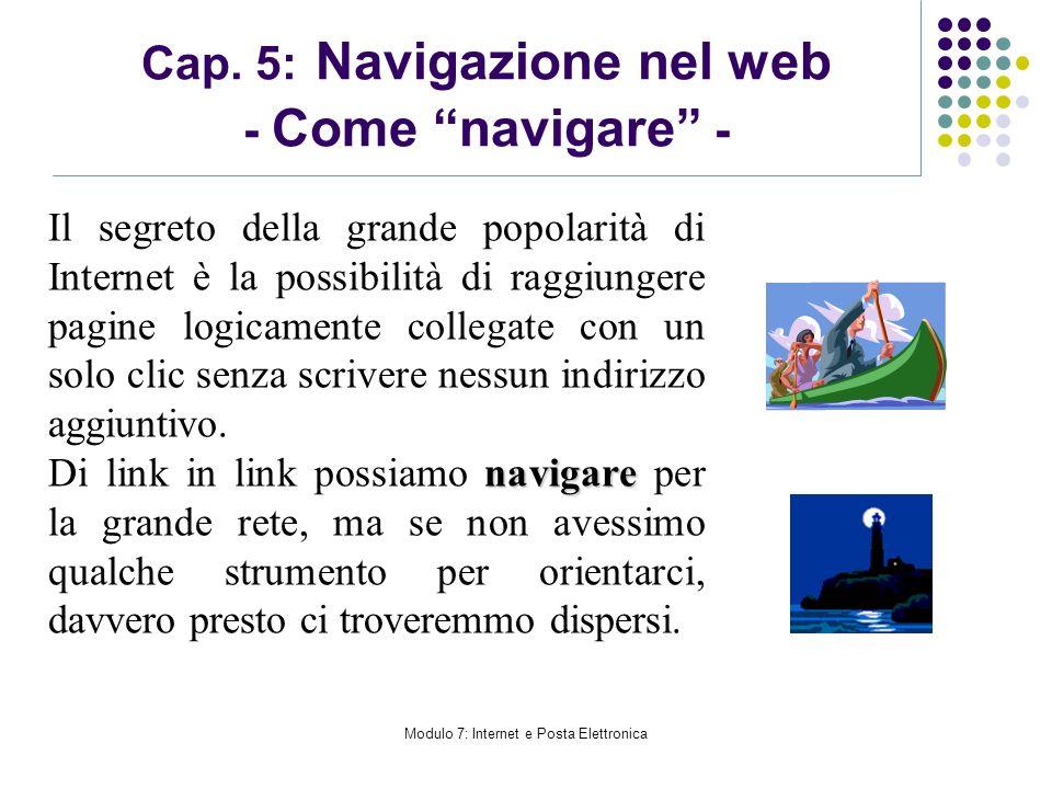 Cap. 5: Navigazione nel web - Come navigare -