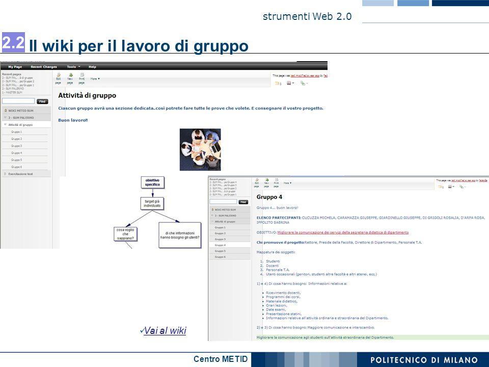 Il wiki per il lavoro di gruppo