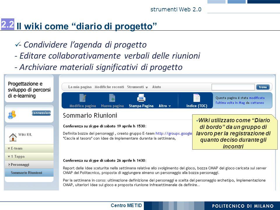 Il wiki come diario di progetto